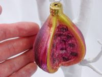 Mouth Blown Glass Fig Hanging Ornament - Ideal for Christmas and more